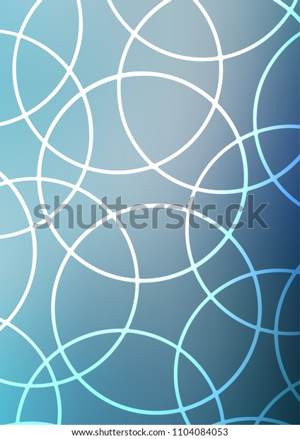 Light BLUE indian curved texture. Creative illustration in blurred style with doodles and Zen tangles. The textured pattern can be used for website.