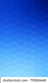 Light BLUE Low poly crystal background. Polygon design pattern. Low poly illustration, low polygon background.