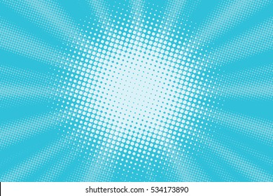 Light blue pop art background