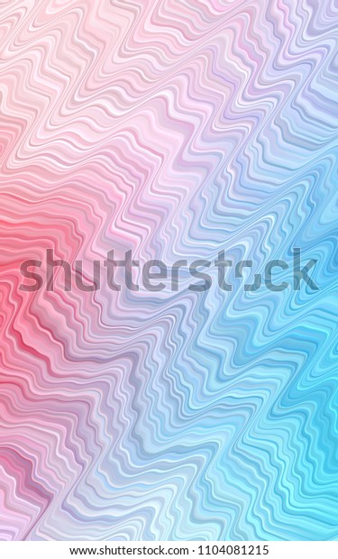 Light Blue, Red pattern with curved circles. Modern gradient abstract illustration with bandy lines. A completely new template for your business design.