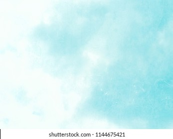 Light blue sky background in pastel watercolor style fading to white