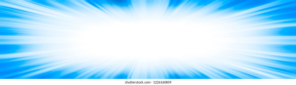 Light blue starburst explosion border frame with a white copy space centre