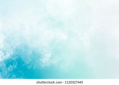 Light blue watercolor background