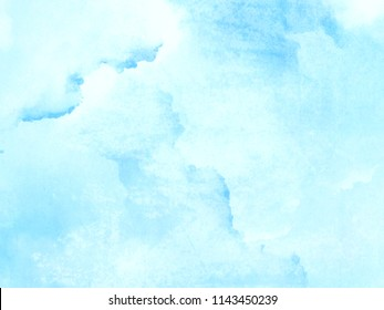 Light blue watercolor background - abstract paled texture