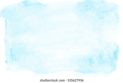 Light blue watercolor background on white paper. For the text, textures, banners, leaflets, posters, with space for inscriptions.