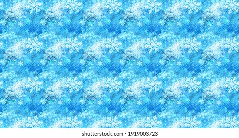 light blue and white flowers beautiful fabric pattern design texture, white and blue design background, winter flowers cool design, illustration.