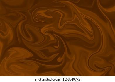 Light brown digital background of curved lines. Illustration