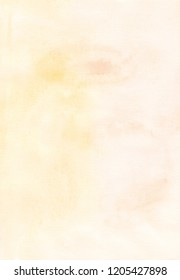 Light brown yellow background. Watercolor abstract sand overlay. Aquarelle vintage wallpaper. Modern art. Watercolour pastel sand trendy dackdrop for card, invitations, textile, blog. Stains on paper.
