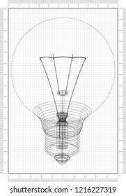 light bulb Architect blueprint