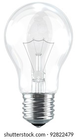 A light bulb isolated by the white background.