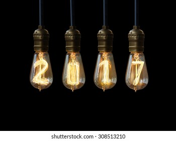 light bulb,new year 2017