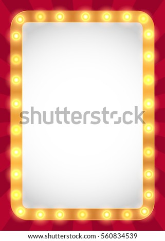 Royalty Free Stock Illustration of Light Bulbs Marquee Frame ...