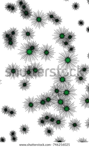 Light colored vertical cover with sea urchins. Glitter abstract layout with isolated sea urchins. The pattern can be used for wildlife ad, booklets.