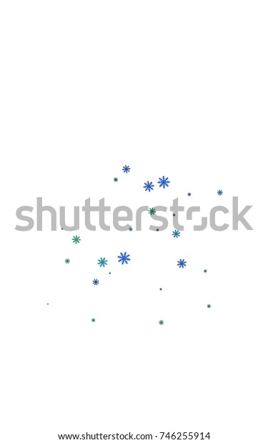 Light colored vertical template with ice snowflakes. Modern geometrical abstract illustration with crystals of ice. The pattern can be used for new year ad, booklets.