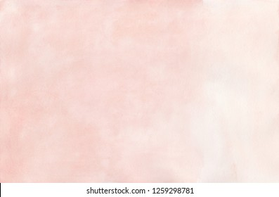 Light coral pink watercolor texture. High resolution watercolour background