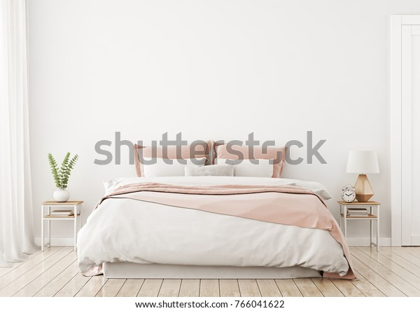 Light Cute Cozy Home Bedroom Interior | Interiors Stock Image