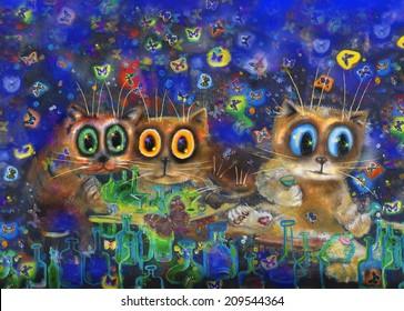 Light dinner and night butterflies