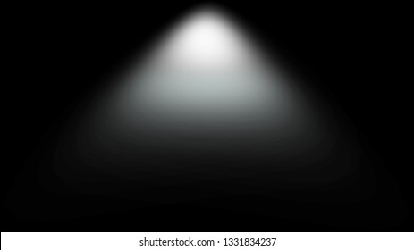 Light Effect Spotlight. Spotlight Black and White Lighting. Light Effects. Isolated on black background. 3d illustration