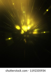 Light explosion star with glowing particles and lines. Beautiful abstract rays background.
