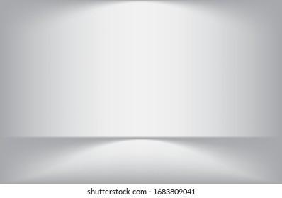 Light gray background White light for design