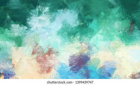 light gray, sea green and medium aqua marine color brushed strokes background. artistic texture can be used for wallpaper, cards, poster or creative fasion design elements.