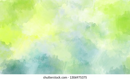 Light green, blue abstract watercolor background