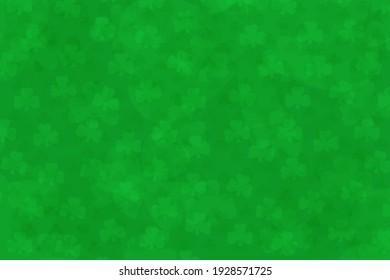 light green clover shamrock background with st patricks day text overlay illustration