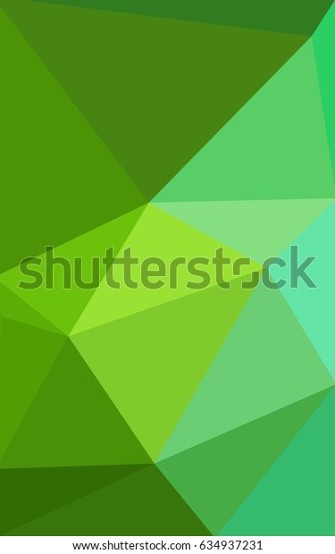 Light Green modern geometrical abstract background. Texture, new background. Geometric background in Origami style with gradient.
