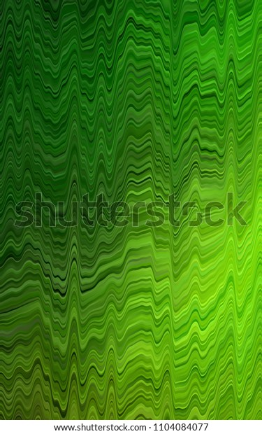Light Green pattern with lamp shapes. Colorful illustration in abstract marble style with gradient. The best blurred design for your business.
