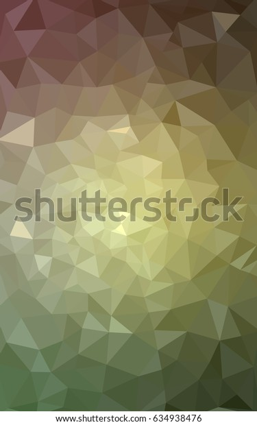 Light Green, Red blurry triangle background design. Geometric background in Origami style with gradient.