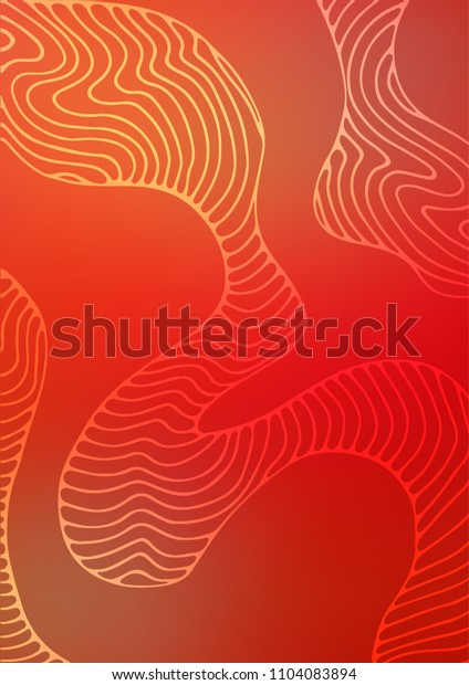 Light Green, Red natural elegant template. Modern geometrical abstract illustration with doodles. The pattern can be used for wallpapers and coloring books.