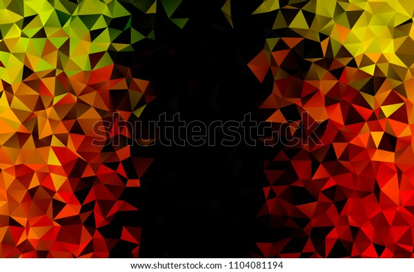 Light Green, Red vertical triangle mosaic pattern. Modern geometrical abstract illustration with gradient. The template can be used as a background for cell phones.