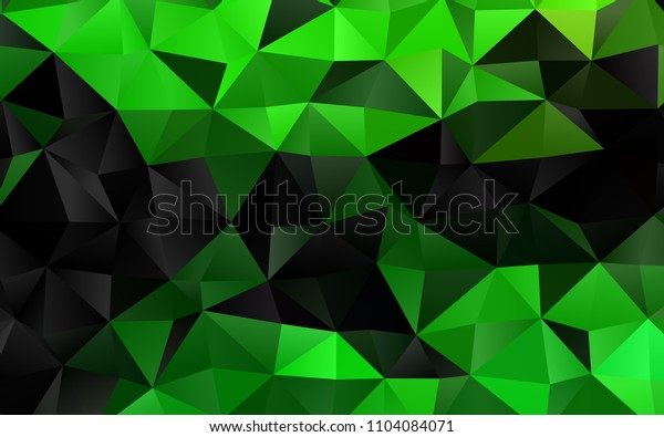 Light Green vertical polygonal pattern. A vague abstract illustration with gradient. A new texture for your design.