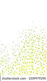 Light Green vertical  template with circles. Beautiful colored illustration with blurred circles in nature style. Completely new template for your brand book.