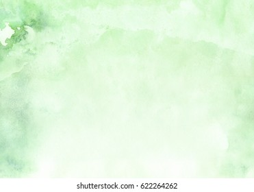 Light green watercolor background, color spot