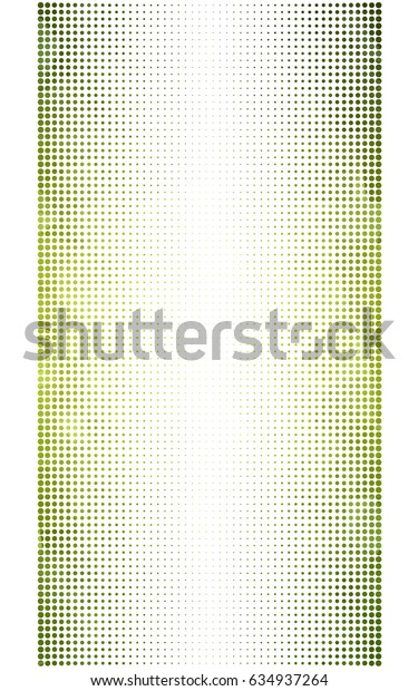 Light Green, Yellow pattern with colored spheres. Geometric sample of repeating circles on white background in halftone style.