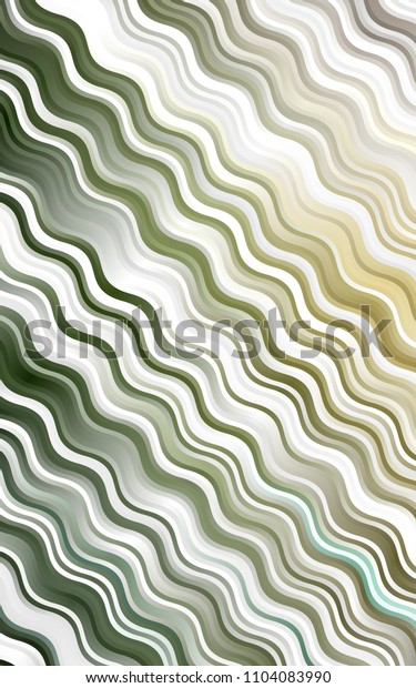 Light Green, Yellow template with lines, ovals. A sample with blurred bubble shapes. Pattern for your business design.