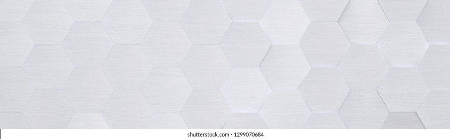 Light Grey Metal Background with Copy Space (Website Head) (3D Illustration)
