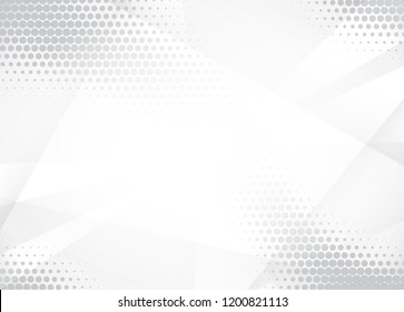 Light Halftone Background for Web Layout. White and Grey Half Tone  Pattern with Dots and Gradient Lines