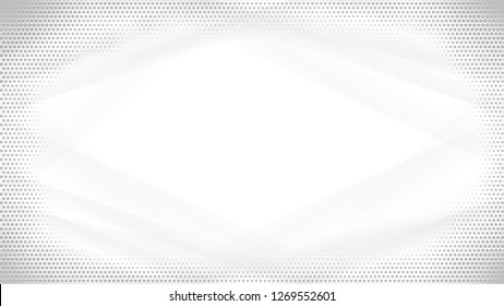 Light Halftone Background for Web Layout. White and Grey Half Tone  Pattern with Dots and Lines