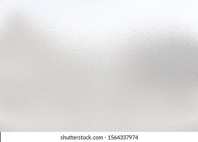 Light matte surface. Plastic glass. Frosted winter window glass. White gray gradient transparent background. 3D rendering