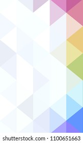 Light Multicolor Low poly crystal background. Polygon design pattern. Low poly illustration, low polygon background.