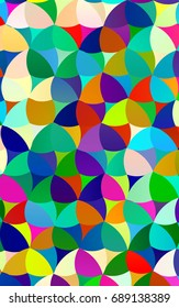 Light Multicolor, Rainbow abstract pattern with circles. Geometry template for your business design. Background with colored spheres.