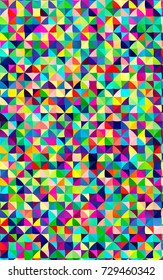 Light Multicolor, Rainbow polygonal template. Shining illustration, which consist of triangles. A completely new template for your business design.