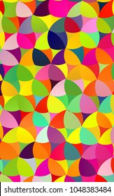 Light Multicolor, Rainbow vertical abstract pattern with circles. Geometry template for your business design. Background with colored spheres.