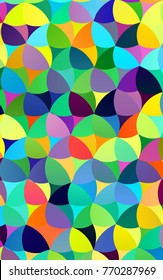 Light Multicolor, Rainbow vertical banner with circles, spheres. Abstract spots. Background of Art bubbles in halftone style with colored gradient.