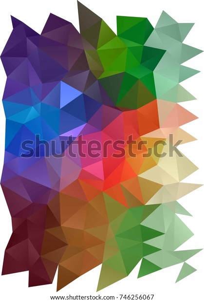 Light Multicolor, Rainbow vertical polygonal background. Geometric illustration in Origami style with gradient.  The best triangular design for your business.