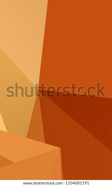 Light Orange low poly background. Brand-new colored illustration in blurry style with gradient. A new texture for your design.