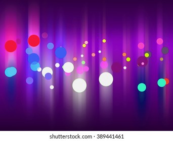 Light Particle Background - Abstract Lighting, Dust, Particle, White, Purple and Glare on a Dark Textures | Shallow Depth of Field At The Top and Bottom of The Screen