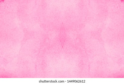 Light pink color ink effect shades gradient on textured paper. Soft smeared aquarelle painted magenta watercolor canvas for splash design, invitation background, vintage template